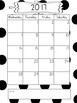 2017-2018 School Year Calendar Black and White