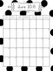 2017-2018 School Year Calendar Black and White