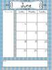 2017-2018 School Year Calendar - Blues and Gray