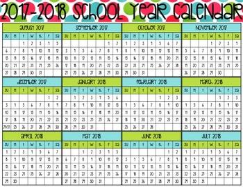 2017-2018 School Year Calendar- Full Color Version