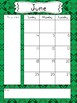 2017 - 2018 School Year Calendar - Greens and Gray