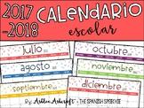 Calendar 2017-2018 School Year - Spanish Version