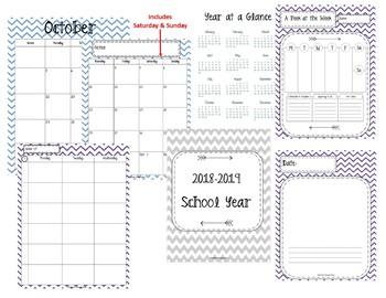 2017-2018 School Year Calendar. Secretary Calendar