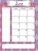 2017-2018 School Year Calendar in Pinks and Purples