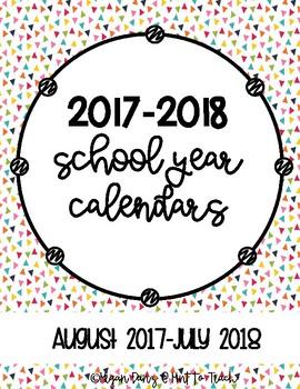2017-2018 School Year Calendars