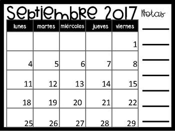2017 2018 Spanish Calendar