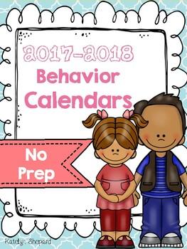 2017-2018 Student Behavior Calendars