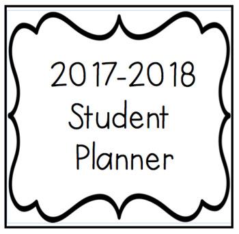 2017-2018 Student Planner