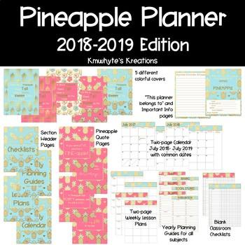 2018-2019 Teach Like a Pineapple Planner for Teachers