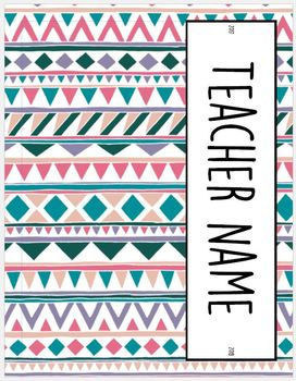 2017-2018 HS Teacher Binder--geometric