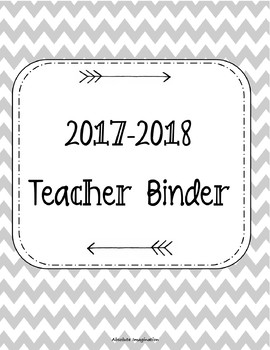 2017-2018 Teacher Binder. Teacher Planner. Lesson Plans. Calendar.