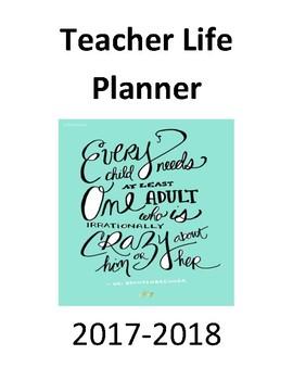 2017-2018 Teacher Life Planner
