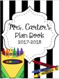 2017-2018 Teacher Plan Book {Editable!}