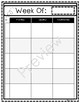 2017-2018 Teacher Planner - SIMPLE and ORGANIZED! *Black and White*