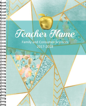 2017-2018 Teal and Gold Planner