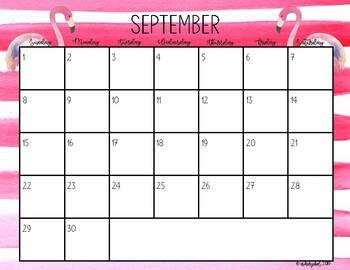 2017-2018 Tropical Calendar