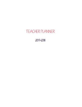 2017 2018 Vertical Weekly Teacher Planner