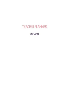 2017 2018 Vertical Weekly Teacher Planner