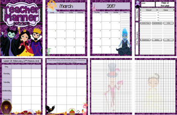 2017-2018 Villain Inspired Teacher Planner
