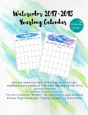 2017-2018 Watercolor School Calendar