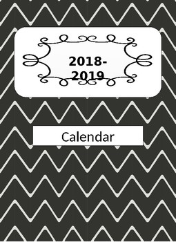 2017-2018 Weekday Only Editable Calendar