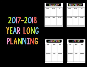 2017-2018 Year Long Planning
