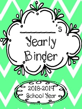 2018-2019 Yearly Binder