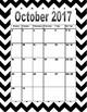 2017-2018 calender (black)