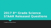 2017 8th Grade Science STAAR Released Questions