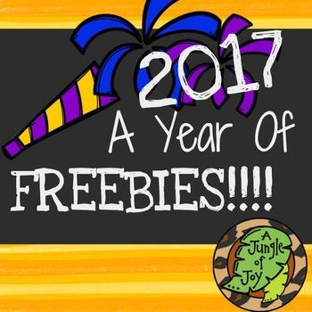 2017: A Year of Freebies!!!!