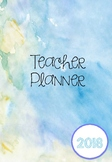 2018 Australian Teacher Planner - Blue Water Colour