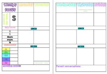 2017  Australian Teacher Planner / Daybook -  Kindergarten specific