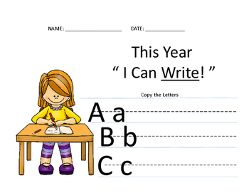 """2017 Back To School New Years """" I CAN """" Resolutions"""