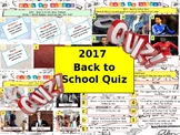 2017 - Back to School Quiz- 7 rounds & 40 Questions. Start or End of term Quiz.
