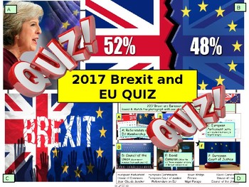 2017 Brexit and European Union EU News Quiz 7rounds and 40 Questions
