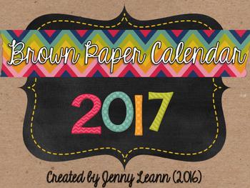 2017 Brown Paper Calendar