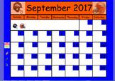 2017 Calendar ActivInspire Flipchart