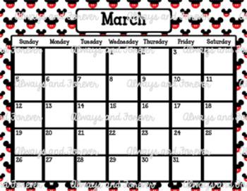 2017 Calendar-Mickey Mouse