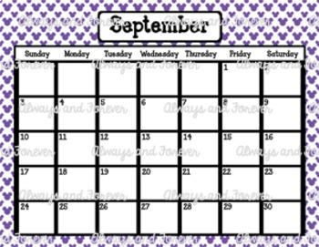 2017 Calendar-Mickey Mouse Polka Dots