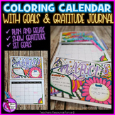 Coloring Calendar - with goals and gratitude journal [dateless]!
