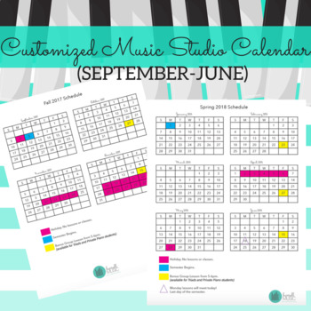 2017-18 Customized Studio Calendar (September-June)