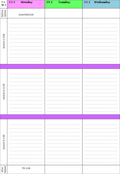 2017 Day Planner with Weekends and Notes