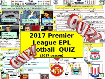 2017 Epl Premier League Soccer Football Quiz 7 Rounds And Over