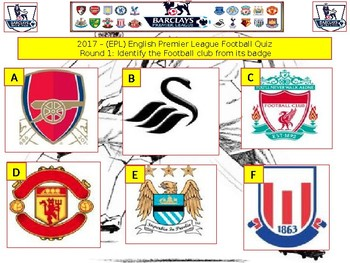 2017 - EPL Premier league Soccer football Quiz  - 7 rounds and over 40 Questions