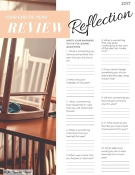 2017- End-of-year review w/ Kahoot quiz, worksheets,& self-reflection activities