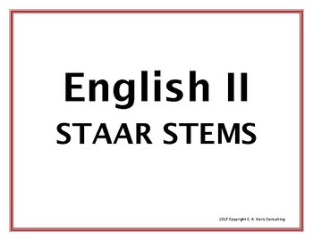 2017 English II STAAR Question Stems