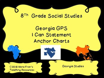 2017 Georgia Grade 8  Social Studies I Can Statement Half Page Posters