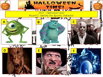 2017 - Halloween Spooky Quiz (Fiction, Literacy) - 7rounds &40+Qs' Quiz -