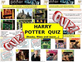 2017 - Harry Potter Intermediate Quiz (Fiction) -7rounds and 40Qs'