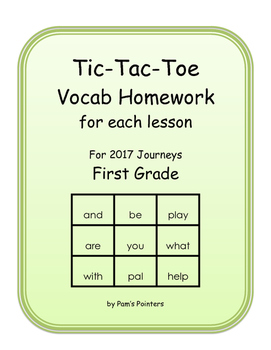 Journeys 2017 - 1st grade  Reading Vocabulary Homework Practice Game